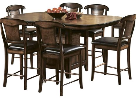 7 piece counter height dining room sets homelegance westwood 7 piece counter height dining room