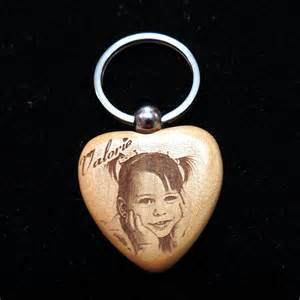 Photo Engraving Engraved Wooden Photo Key Chains Enchanted Memories Custom Engraving Amp Unique Gifts