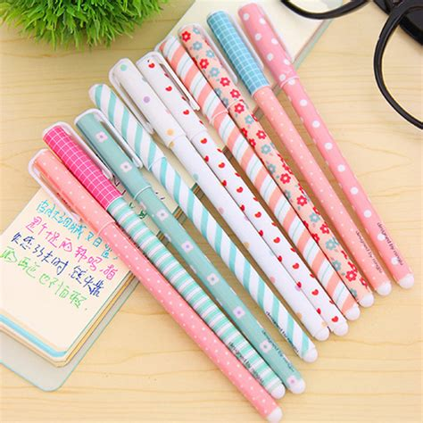 Korean Stationery Kawai Color Pen Pulpen Gel aliexpress buy 10 pcs lot color gel pen kawaii stationery korean flower canetas escolar