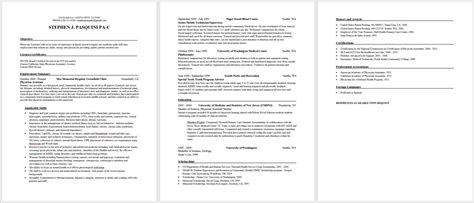 physician assistant resume exles design resume template