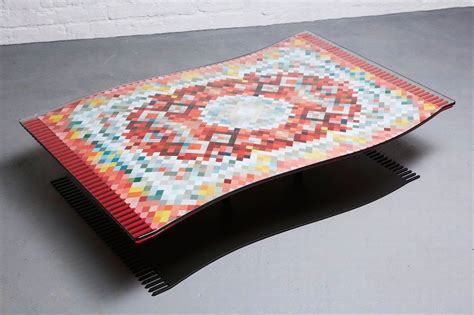 Optical Illusion Rugs For Sale by Optical Illusion Flying Carpet Coffee Table Set To Open Up