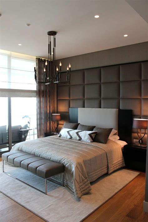 Dormitorios Matrimoniales Modernos Decoracion #8: Schlafzimmer-ideen-wandgestaltung-stilvolle-wandgestaltung-heller-teppich-schlafzimmerbank.jpg