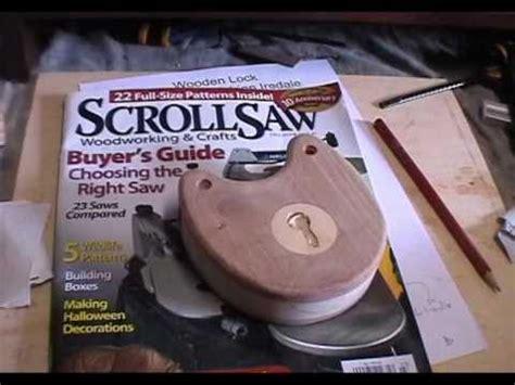 build  wooden lock scrollsaw magazine plan youtube