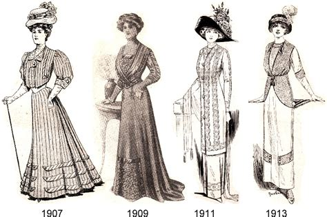 styles of 1914 20th century fashion eras unique cabinet