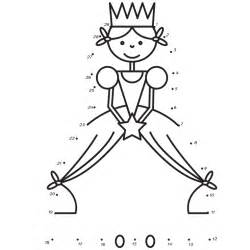 Marvelous Dessin A Imprimer Noel #3: Coloriage-jeu-point-a-relier-princesse.jpg