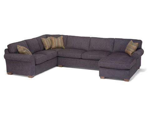 3 sectional sofa with chaise flexsteel vail three sectional with chaise dunk