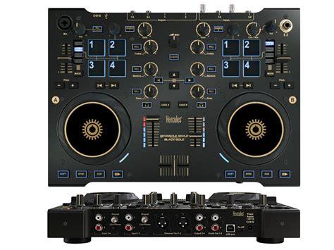 midi decks hercules dj console rmx 2 black and gold