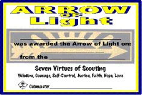 arrow of light certificate template free printable arrow of light certificate template arrow