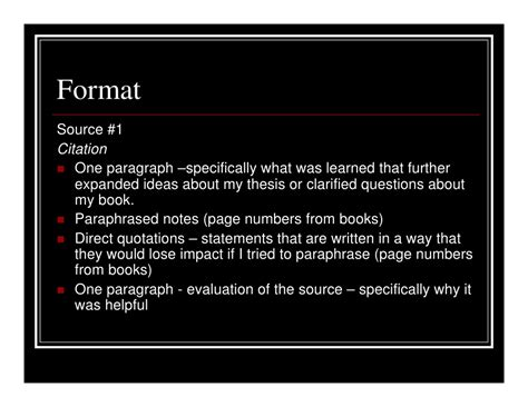 Slides Note Card Template For Annotated Bibliography by Annotated Bibliography Notes