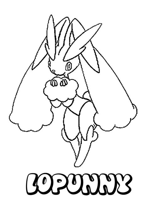 coloring pages of pokemon online normal pokemon coloring pages lopunny