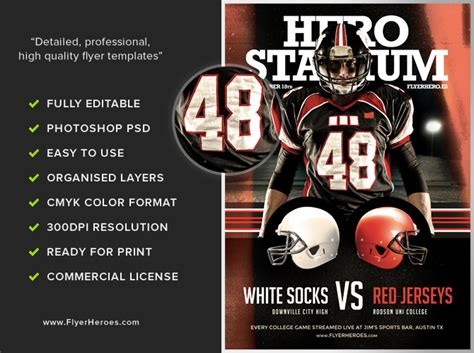 football flyers templates american football flyer template 2 flyerheroes