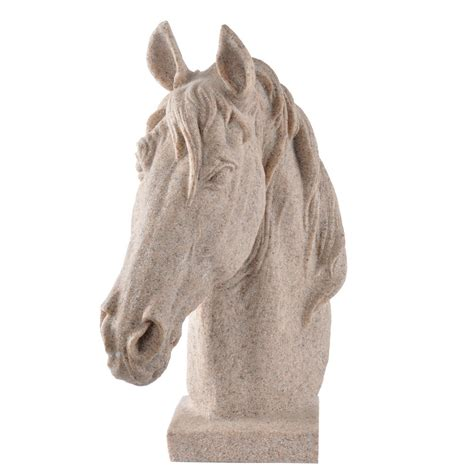 horse statues for home decor hot sale sandstone resin horse head statues for home