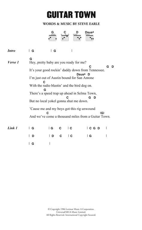 s day lyrics earle guitar town by steve earle guitar chords lyrics guitar