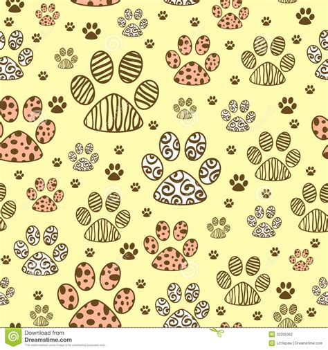 seamless pattern animals seamless pattern with paws stock photography image 32205362