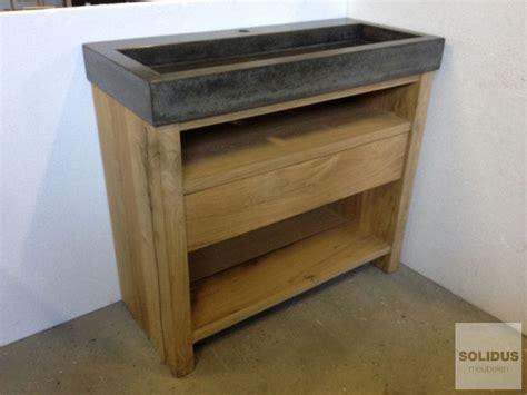 badkamermeubel hout en staal houten wastafelmeubel google zoeken badkamer