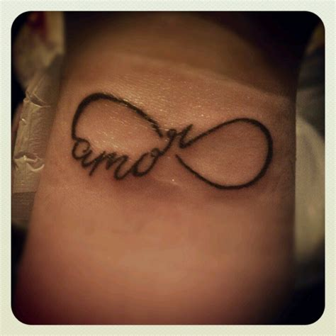 my new tattoo amor eterno