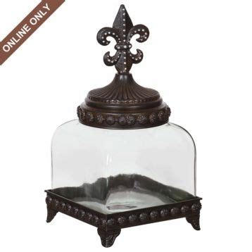fleur de lis canister 5 5 quot small kitchen canisters nature home decor glass fleur de lis canister small i love these for