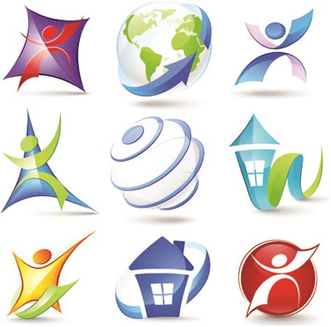 free logo design in 3d modern 3d logos design elements vector free vector in