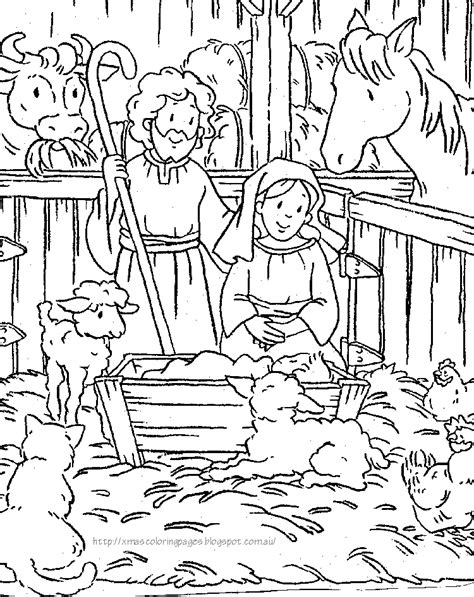 nativity manger coloring page xmas coloring pages