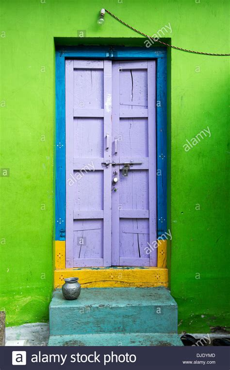 indian buying house indian house front door andhra pradesh india stock photo royalty free image
