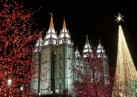 quot salt lake temple december christmas lights quot by ryan