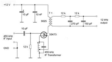 mosfet transistor oscillator listen to drm digital radio broadcasts the 12 khz converter circuit