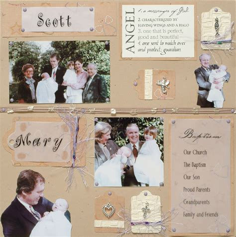scrapbook layout ideas baby christening baptism quotes for scrapbooking quotesgram