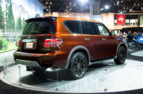 nissan armada rear 2017 nissan armada first look review motor trend
