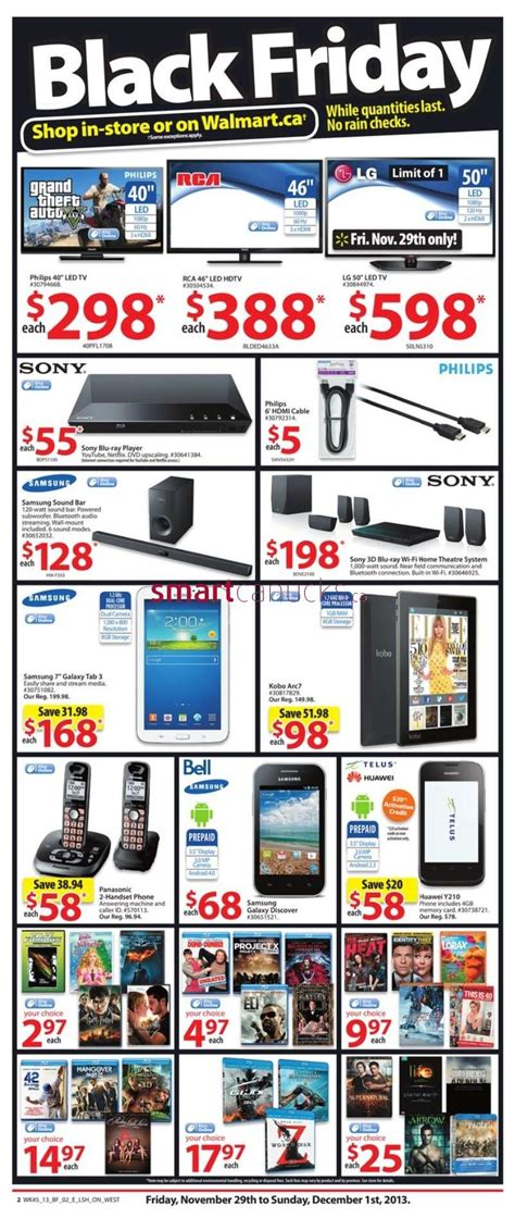 Black Walmart by Walmart Black Friday Flyer November 29 To December 1 2013