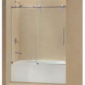 dreamline enigma z 56 in x 62 in frameless sliding tub