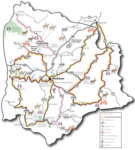 ky elk map knott county maps