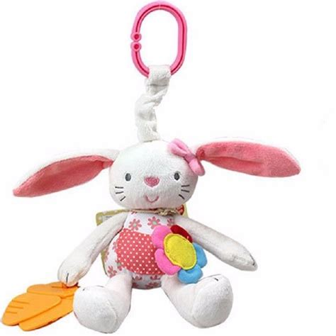 new baby soft plush rabbit baby rattle ring bell crib