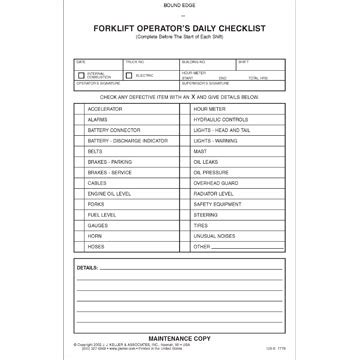 forklift checklist template search results for fork lift inspection checklist