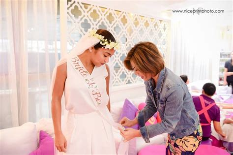 spa bridal shower packages philippines rochelle pangilinan holds a spa themed bridal shower