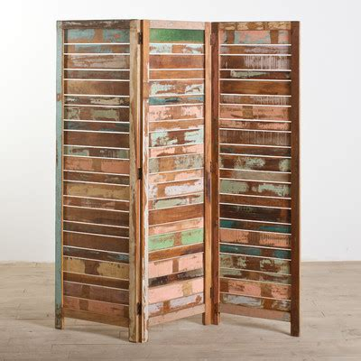 reclaimed wood divider buy low price cg sparks reclaimed wood 3 panel screen