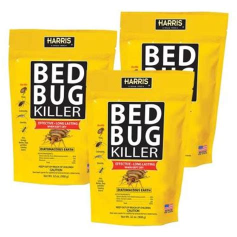 harris 32 oz diatomaceous earth bed bug killer 3 pack