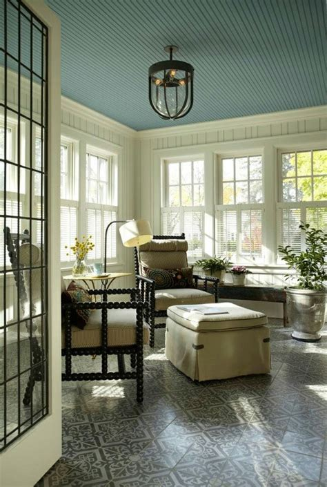 turquoise beadboard sunroom ceiling i want to my ceilings painted home ideas