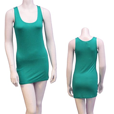 Tank Top Dress by Womens Casual Stretchy Slim Fit Modal Basic Tank Top Dress Fashion Mini Ebay