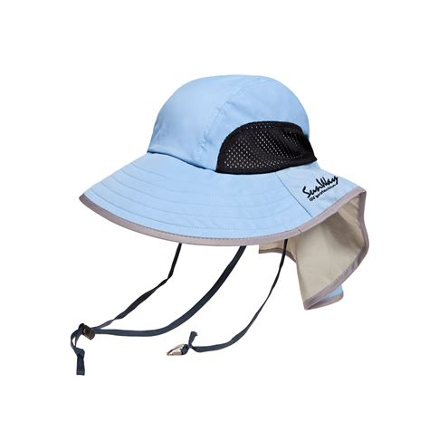 hat with light in brim light blue wide brim hat 14 sunway