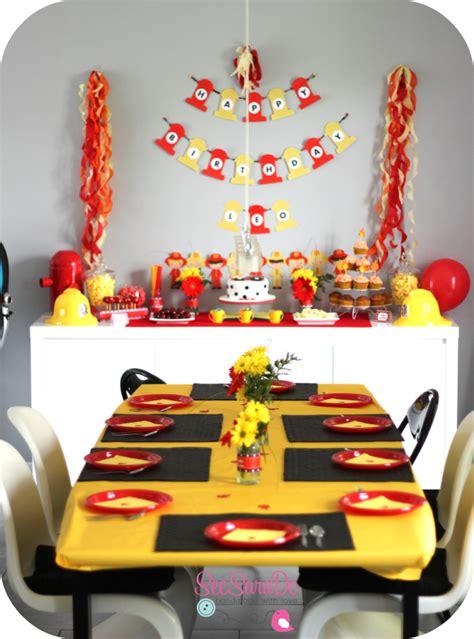 decoration fete anniversaire anniversaire pompiers fete anniversaire