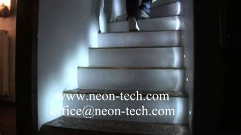 sensor lights for stairs indoor led stair lights with sensor led stair lighting