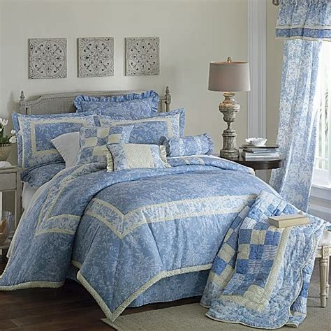 12p queen blue yellow cottage chic comforter set drapes ebay