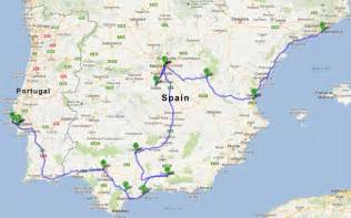 map of spain with distances between cities pictures to pin