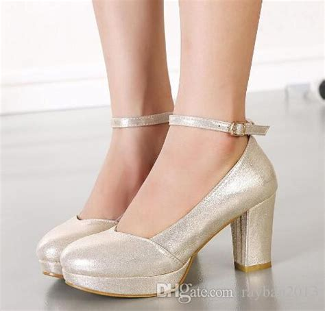 Wedding Shoes Thick Heel by Sparkly Wedding Shoes Pumps Thick Heel Ankle