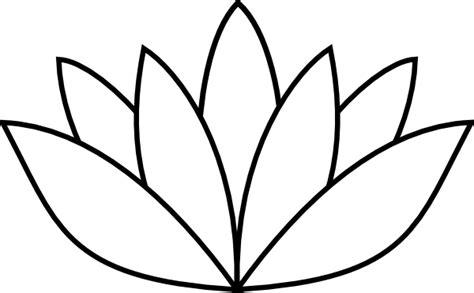 outline of lotus flower lotus flower outline clip at clker vector clip