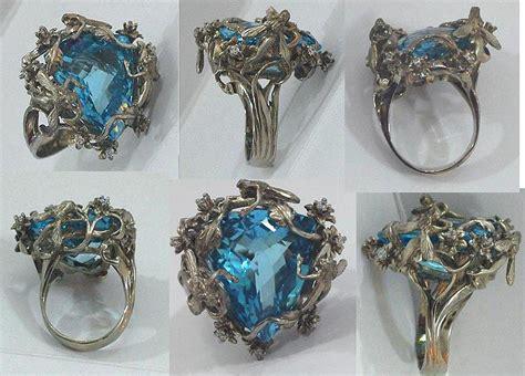 art nouveau fairy fantasy ring sculpture by michelle robison