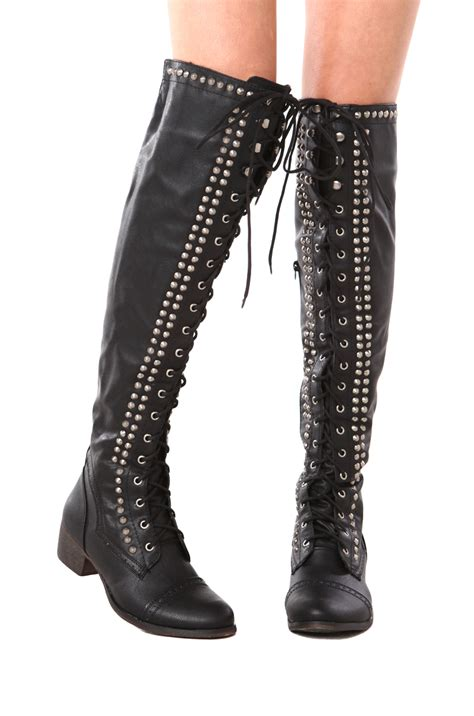 black lace up biker boots 23 fantastic black lace up boots women sobatapk com