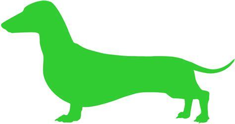lime silhouette dachshund outline 23640 mediabin