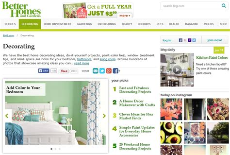 top 28 better homes and garden website magazine