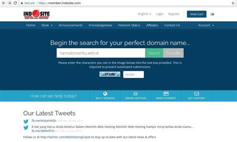 order domain indonesia web hosting murah indonesia